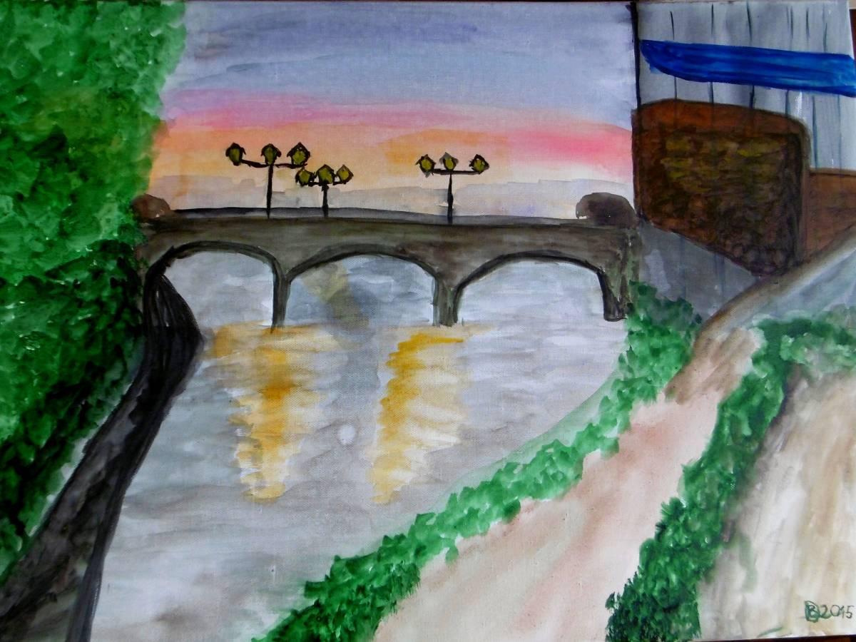 'Abendstimmung an der Bärenbrücke' von Brigitte Daniele