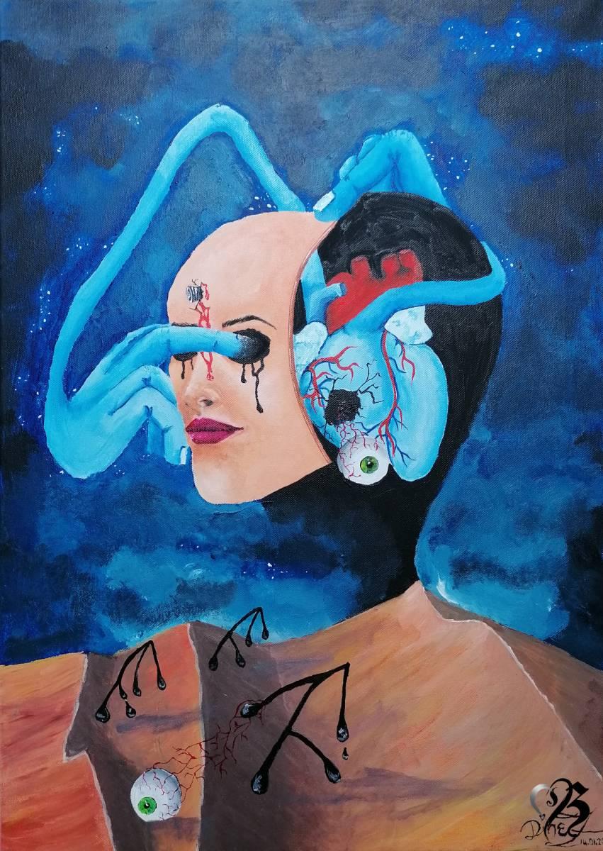 """'""""Selbstportrait""""' von DineZ Art"""