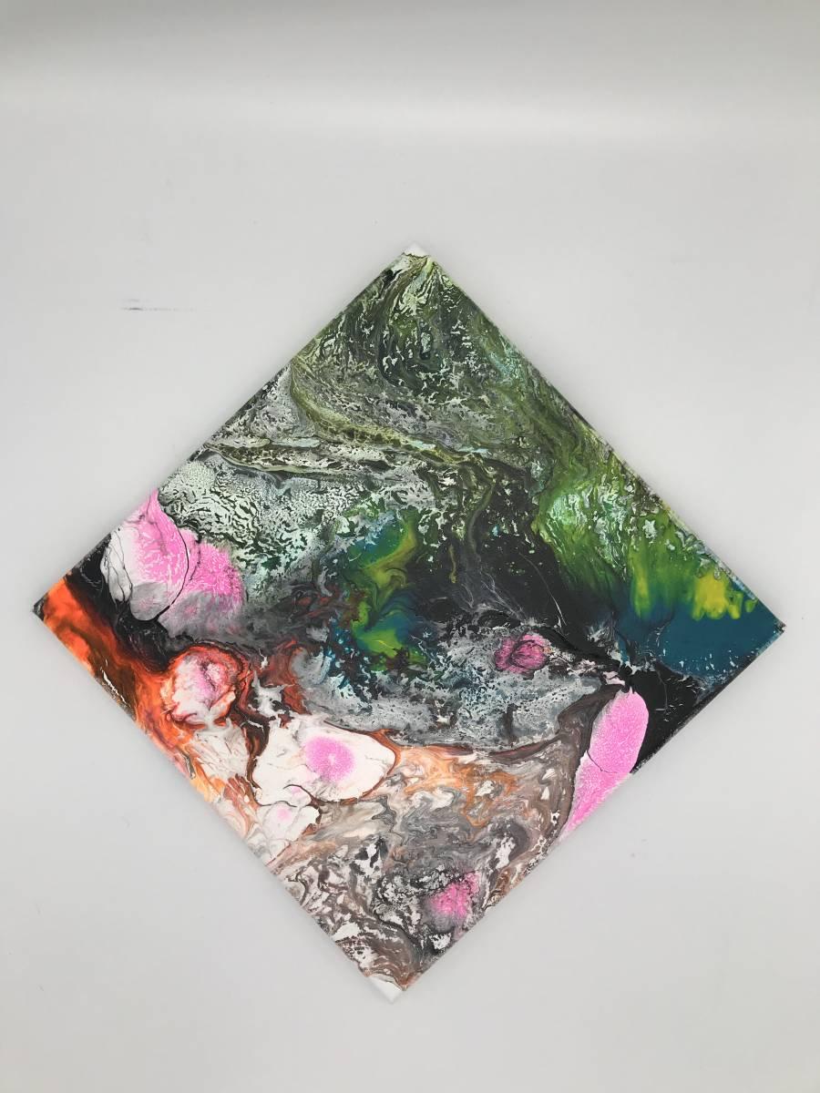 'Rosa-Akzente, abstaktes Bild, 30x30' von Tatjana Bauer