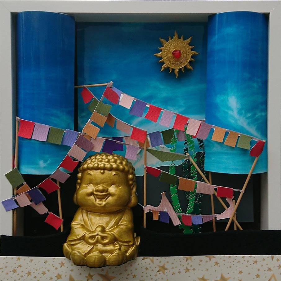 'Der kleine Buddha' von Goldletter