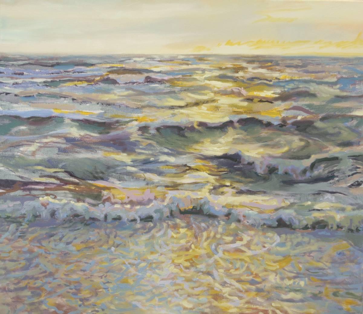 'Wellen - gelbes Licht' von Bettina von Hartmann