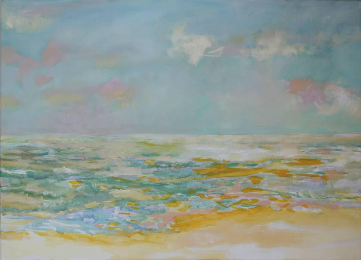 'Am Meer 3 (von Triptychon)' von Bettina von Hartmann