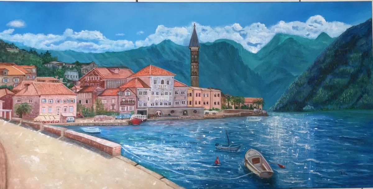 Meeresküste Montenegro, Öl, 50x100