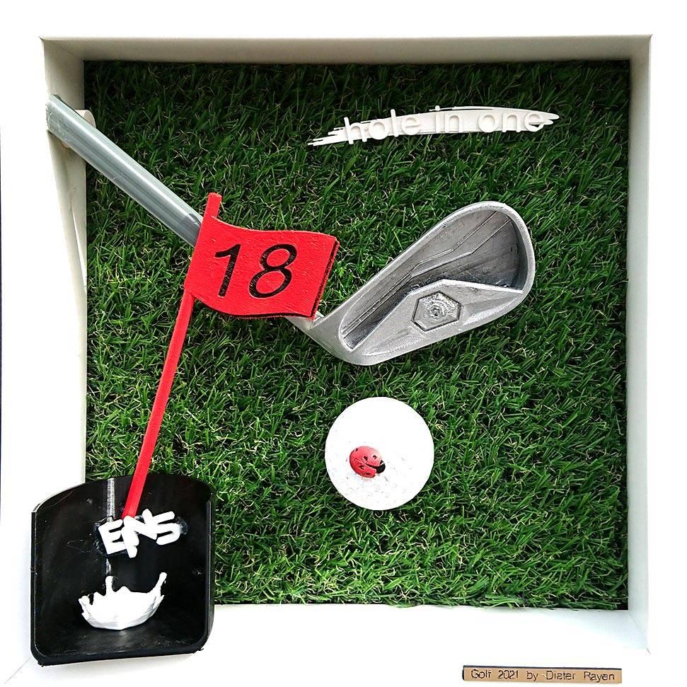 'Golf - Hole in one' von  Goldletter