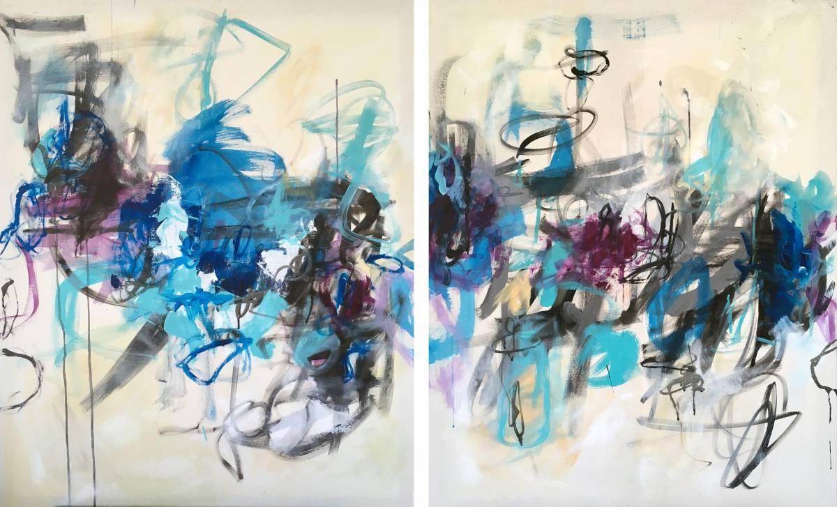 'Blue Line I & II' von Christiane Reisert
