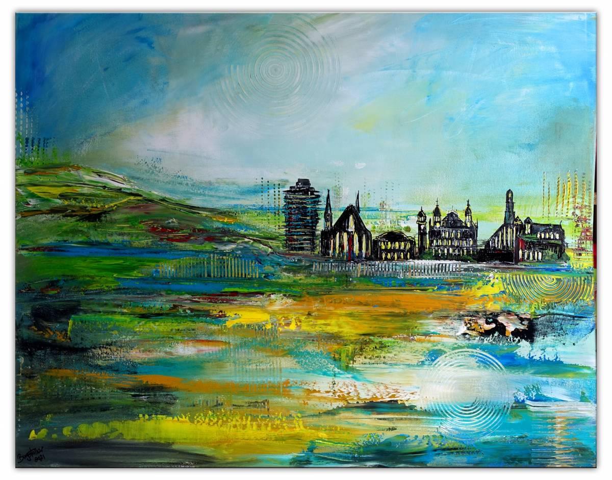 'Augsburg - westl. Wälder - abstrakt gemalt' von Burgstallers Art Gemaelde