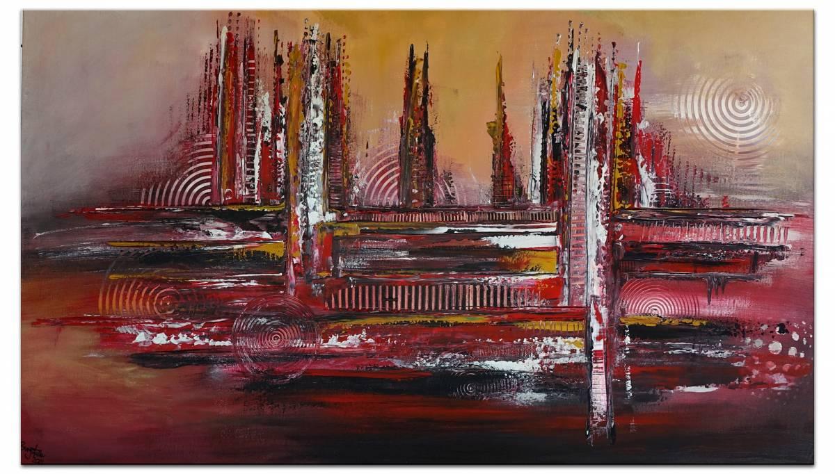 'Denver - abstrakte Skyline' von  Burgstallers Art Gemaelde