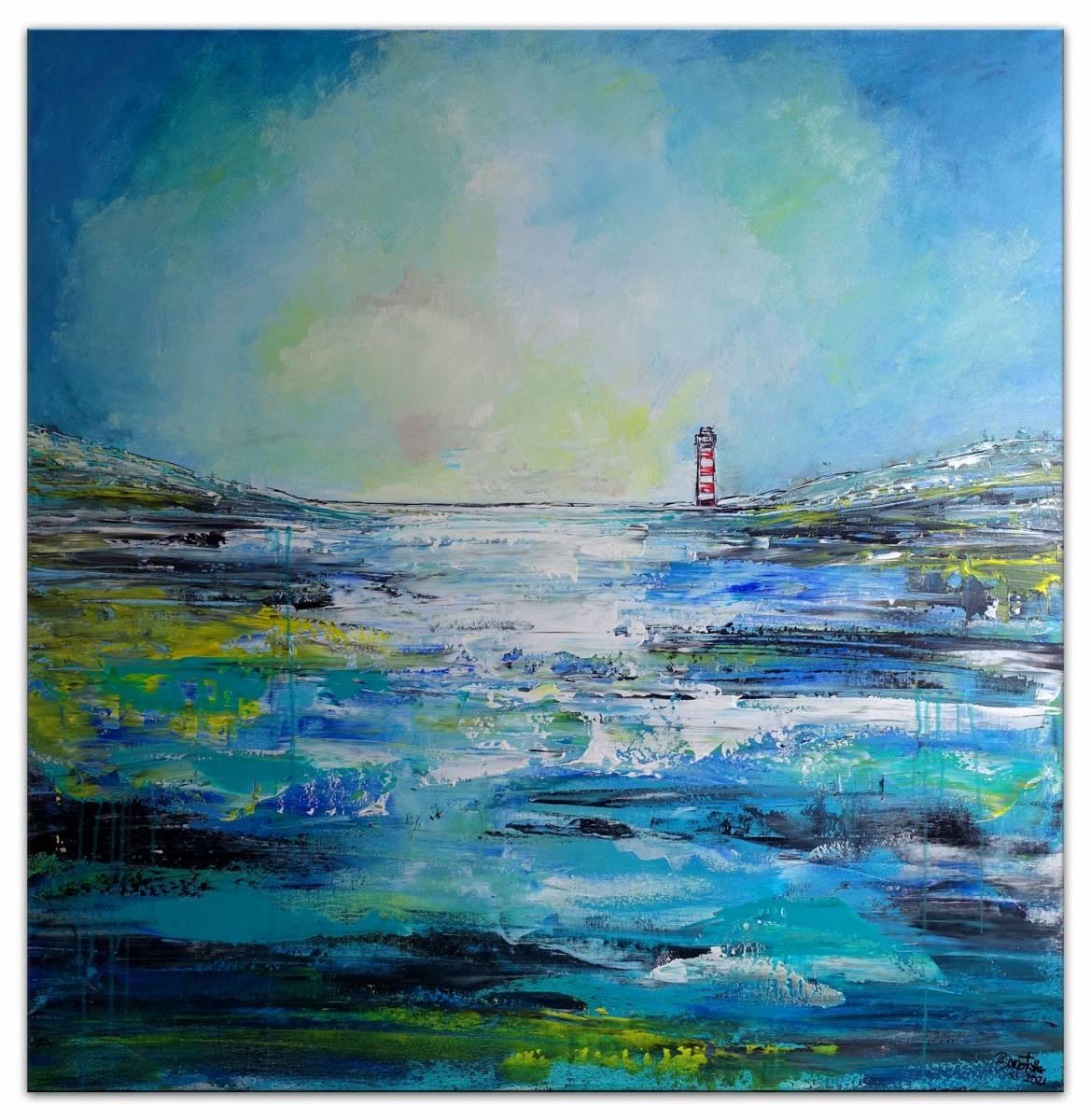 'Einsamer Leuchtturm - Küste Meer' von  Burgstallers Art Gemaelde
