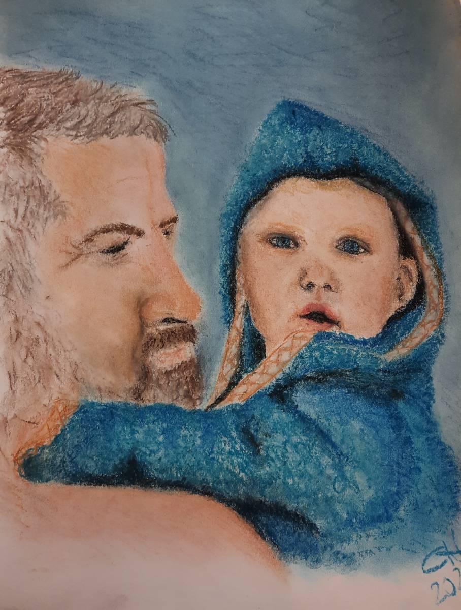 'Opa und Enkel' von Corina