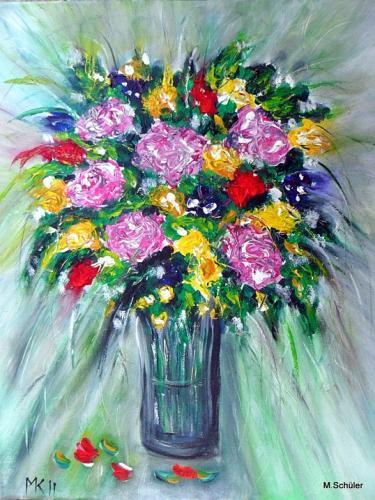 Blumengruß zur Vernissage