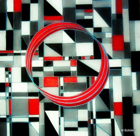 squares and circle