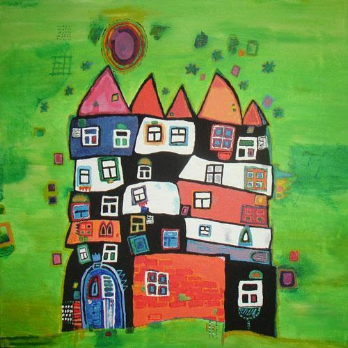 """""""Traumhaus""""nach Hundertwasser"""