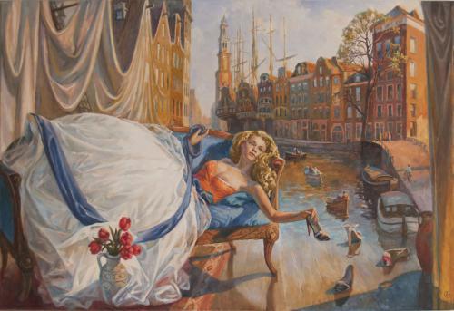 In Amsterdam, wo es alles schwimt