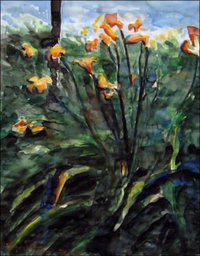 Lilien am Weg