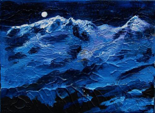 Monte Rosa bei Nacht