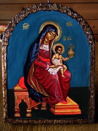 Thronende Gottesmutter