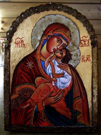Gottesmutter und Sohn