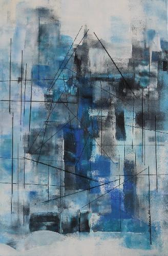 'Stadt mit Stäben' von Petra Hegemann