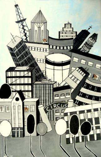Gebäude der Großstadt