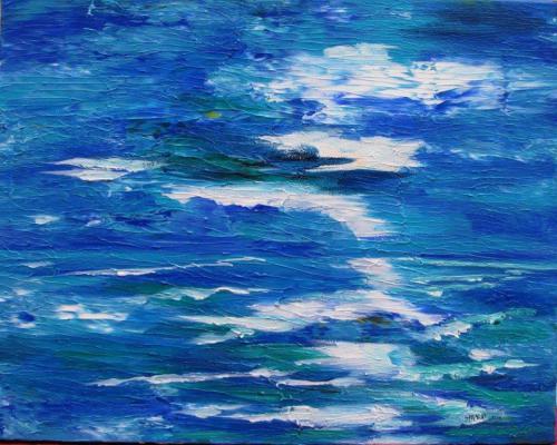 Wellen in Himmel und Wasser