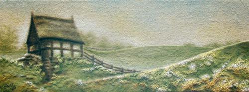 'Bornholm Wassermühle' von Sandmalerin