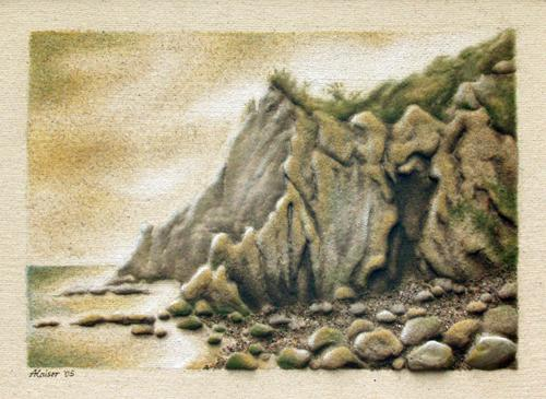 'Bornholm Felsenküste' von Sandmalerin