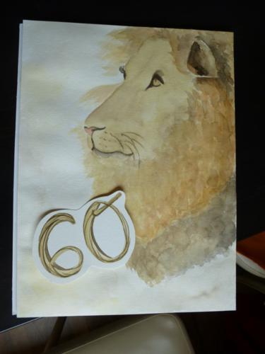 Löwe zum 60. Geburtstag