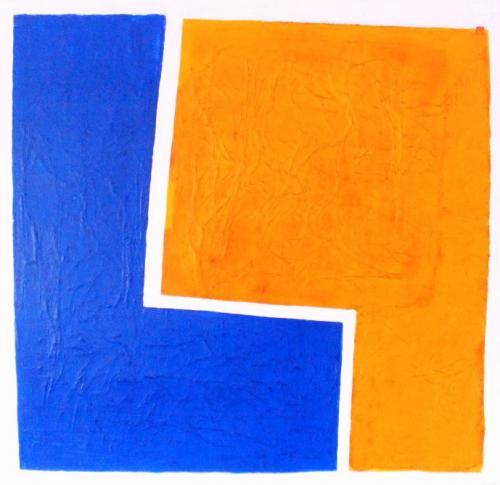 Gelb-blaues Quadrat