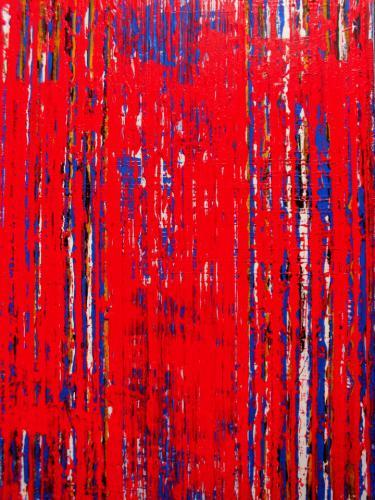 'Red Stripes' von Volker Franzius