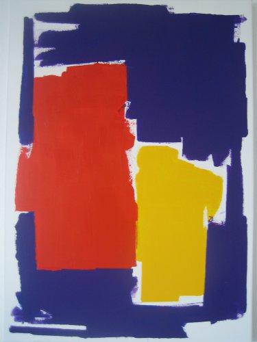 Rot-Gelb auf Blauviolett