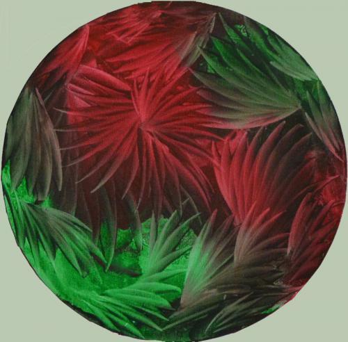 Phantasie rot/grün