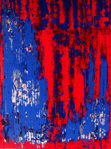 Rot überlagert mit Blau