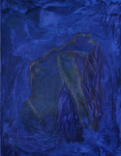 Blauer Akt