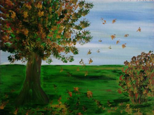Blätterfallen
