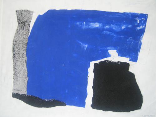 Blauer Bogen mit Schwarz