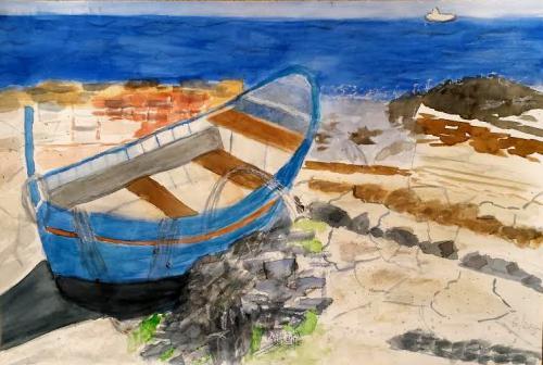 Boot am Strand