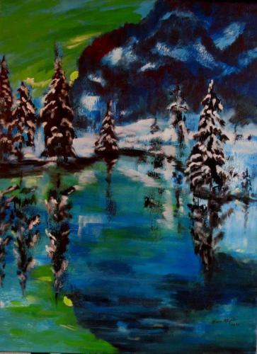 Winternacht am Blausee