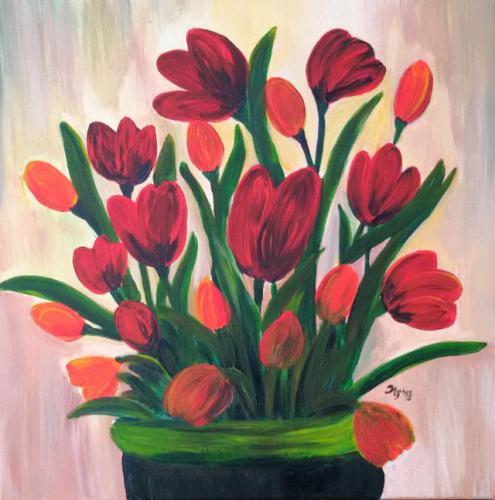 Tulpen im Krug