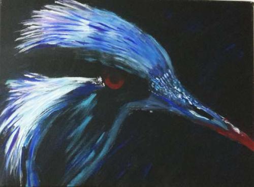 'blauer Vogel' von Hobbymalerin ansehen