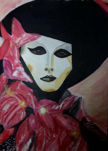 'Venedigmaske' von Hobbymalerin ansehen