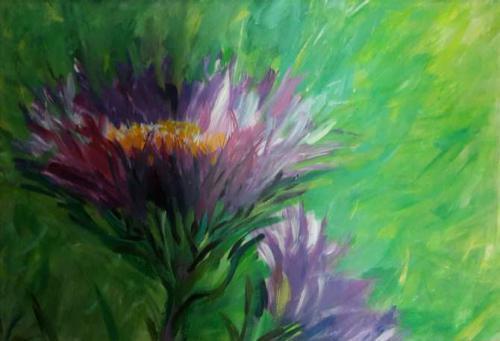 'lila Blumen' von Hobbymalerin ansehen