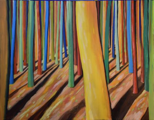 Sonne im bunten Wald