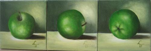 Nr.211 Drei mal grüner Apfel_copy