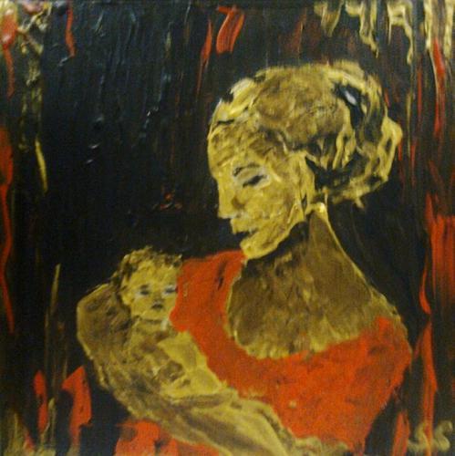 'Mutter mit Kind 2' von Slavka Sabljo