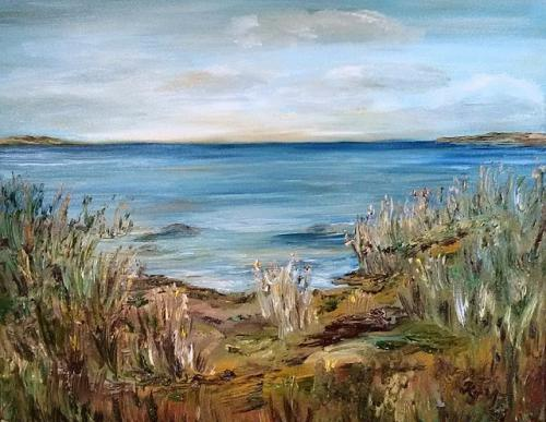 Am Ufer stehend