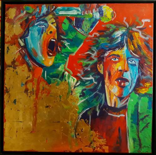 Mick Jagger gold