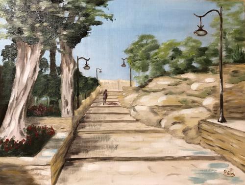 Griechenland Treppe