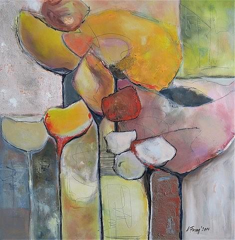 Komposition mit Gelb