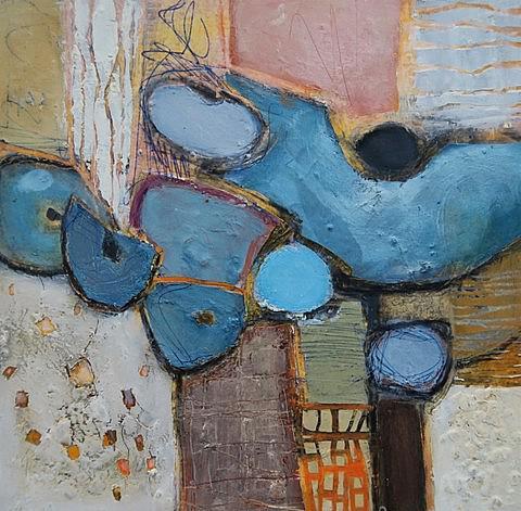 Komposition mit Blau