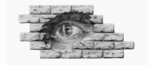 'Das Auge in der Mauer schaut...' von KATTIE Kerstin Fichtner